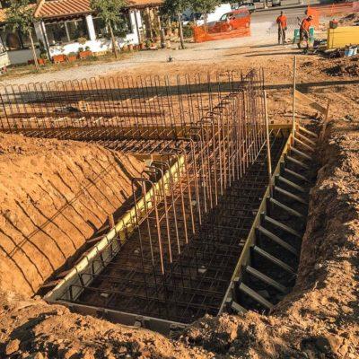 Realizzazione muro in cemento armato